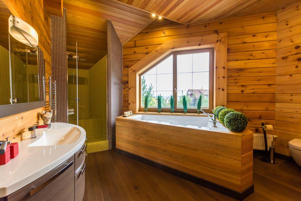 Интерьер в деревянных домах минимализм
